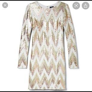 Vince Camuto Chevron Sequin Dress